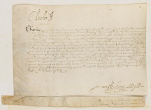 1620 signed memo from Prince of Wales